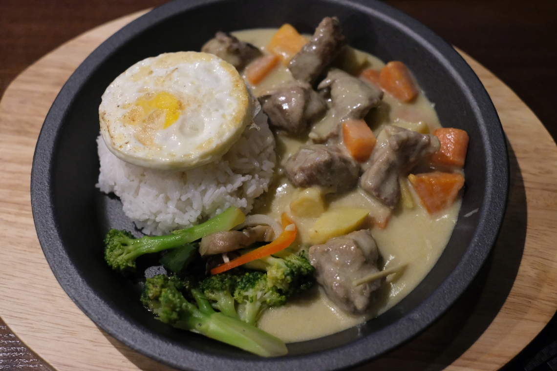 014 Mėsa, ryžiai, kiaušinienė